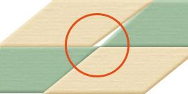 1. 畳と畳の間に隙間ができている